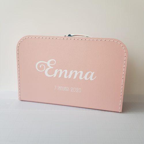 Kinderkoffertje met naam roze