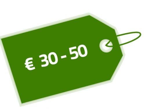 Prijs € 30-50