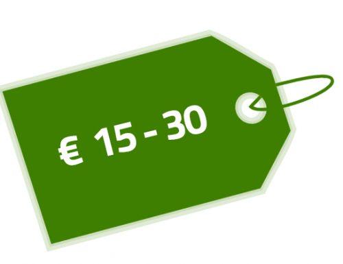 Prijs € 15-30