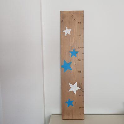 Groeimeter sterren blauw